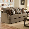 United Furniture Industries 8540BR Casual Loveseat - Item Number: 8540BRLoveseat-GrandstandWalnut