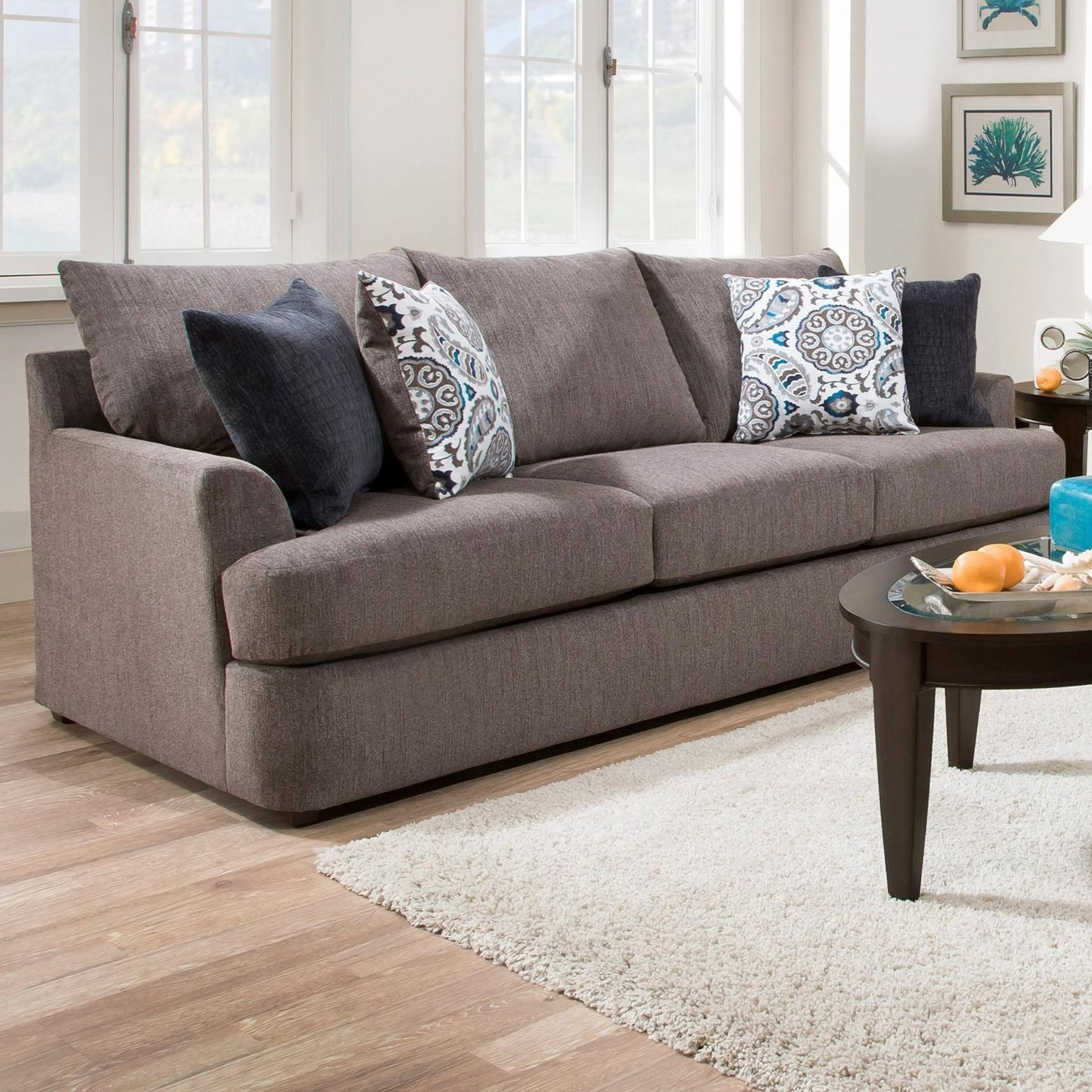 Beau United Furniture Industries 8540BR Casual Sofa   Item Number:  8540BRSofa GrandstandFlannel
