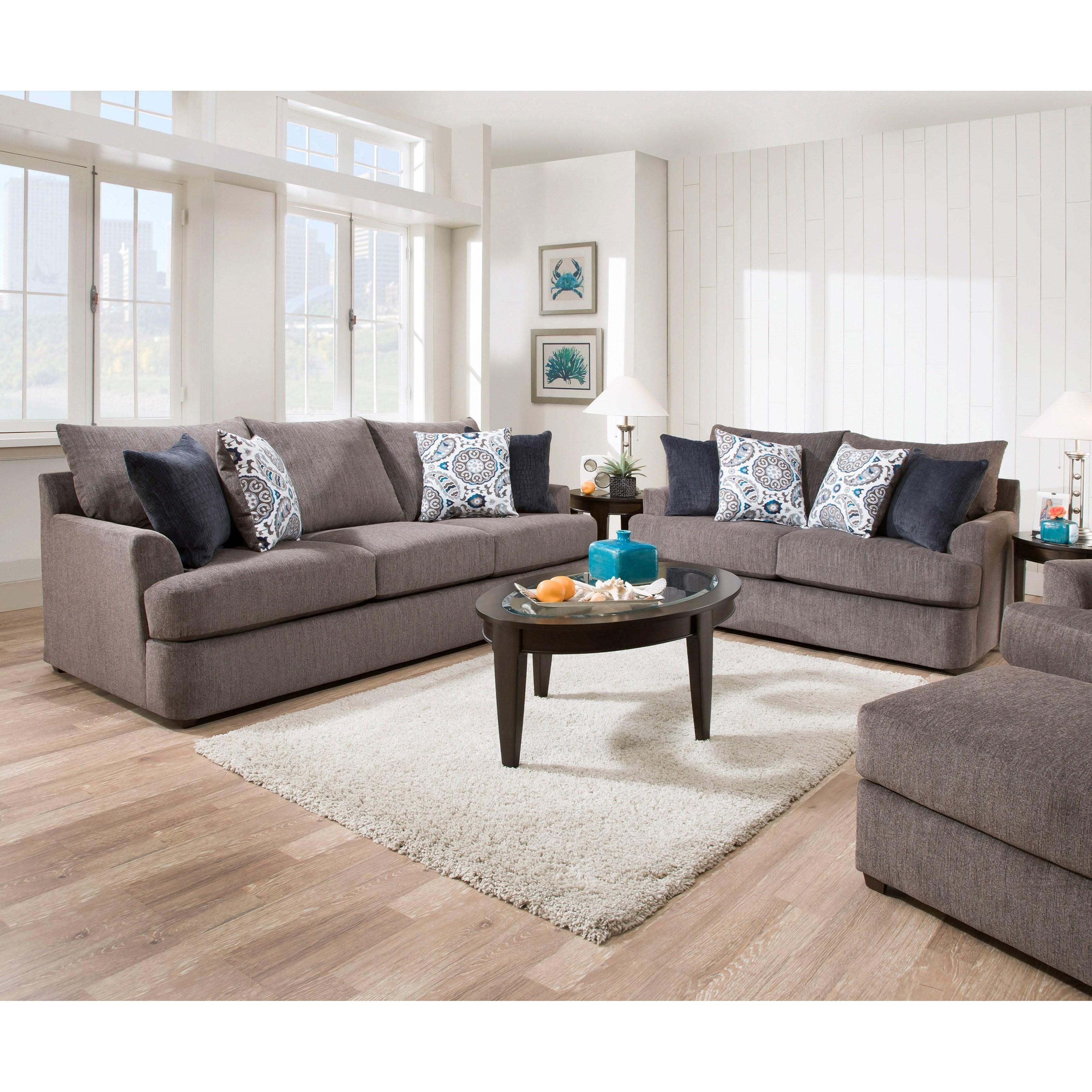 United Furniture Industries 1720 Sofa: United Furniture Industries 8540BR 8540BRSOFA Casual Sofa