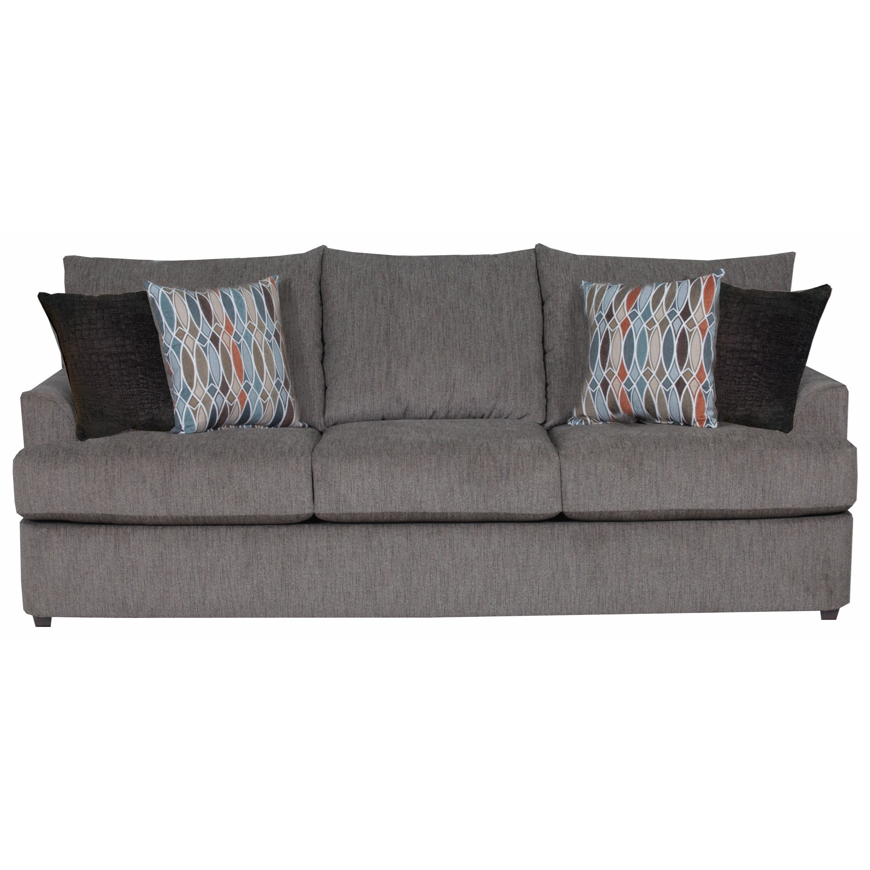 United Furniture Industries 8540BR Casual Sofa - Item Number: 8540BRSofa-GrandstandWalnut