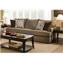 United Furniture Industries 8540 Grand Casual Sofa - Item Number: 8540BRSofa-GrandstandWalnut