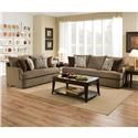 United Furniture Industries 8540 Grand Sofa & Love Seat - Item Number: 8540BRSofa+8540BRLoveseat