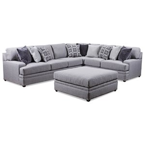 United Furniture Industries 8560 BR Casual Sectional Sofa
