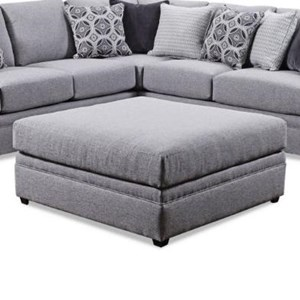 United Furniture Industries 8560 BR Square Cocktail Ottoman