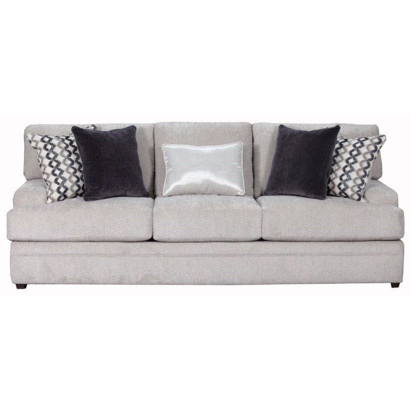 Simmons Upholstery 8560 BR Casual Sofa - Item Number: 8560BRSofa-BellamyPutty