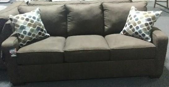 9025 Espresso Queen Sleeper Sofa by United Furniture Industries at Furniture Fair - North Carolina