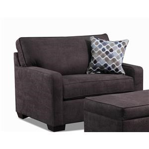 United Furniture Industries 9025 Espresso Twin Sleeper Sofa