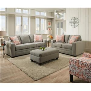 United Furniture Industries 9064 United Transitional Sofa Miskelly Furniture Sofas