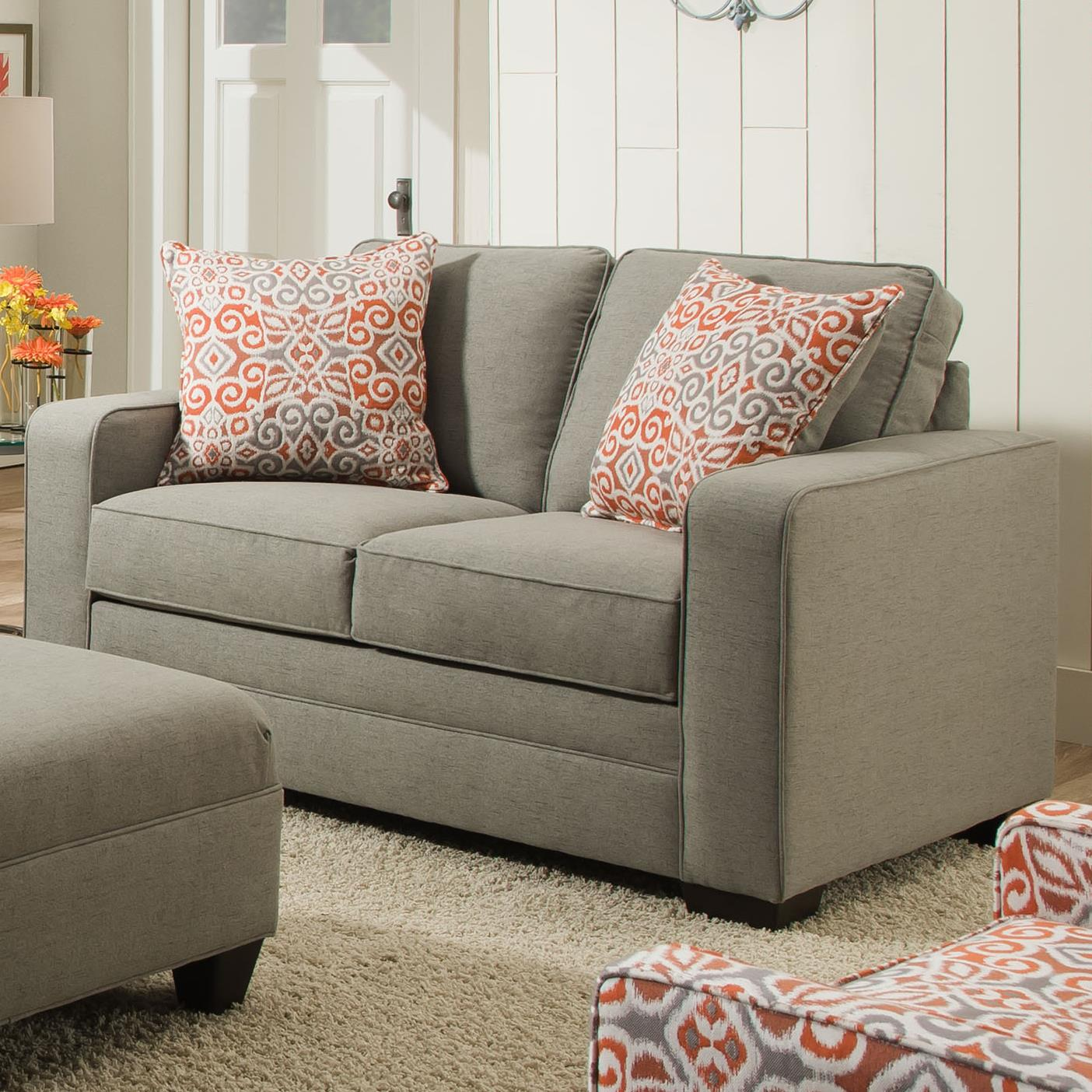 United Furniture Industries 9064 United Loveseat - Item Number: 9064Loveseat-AshMiramar