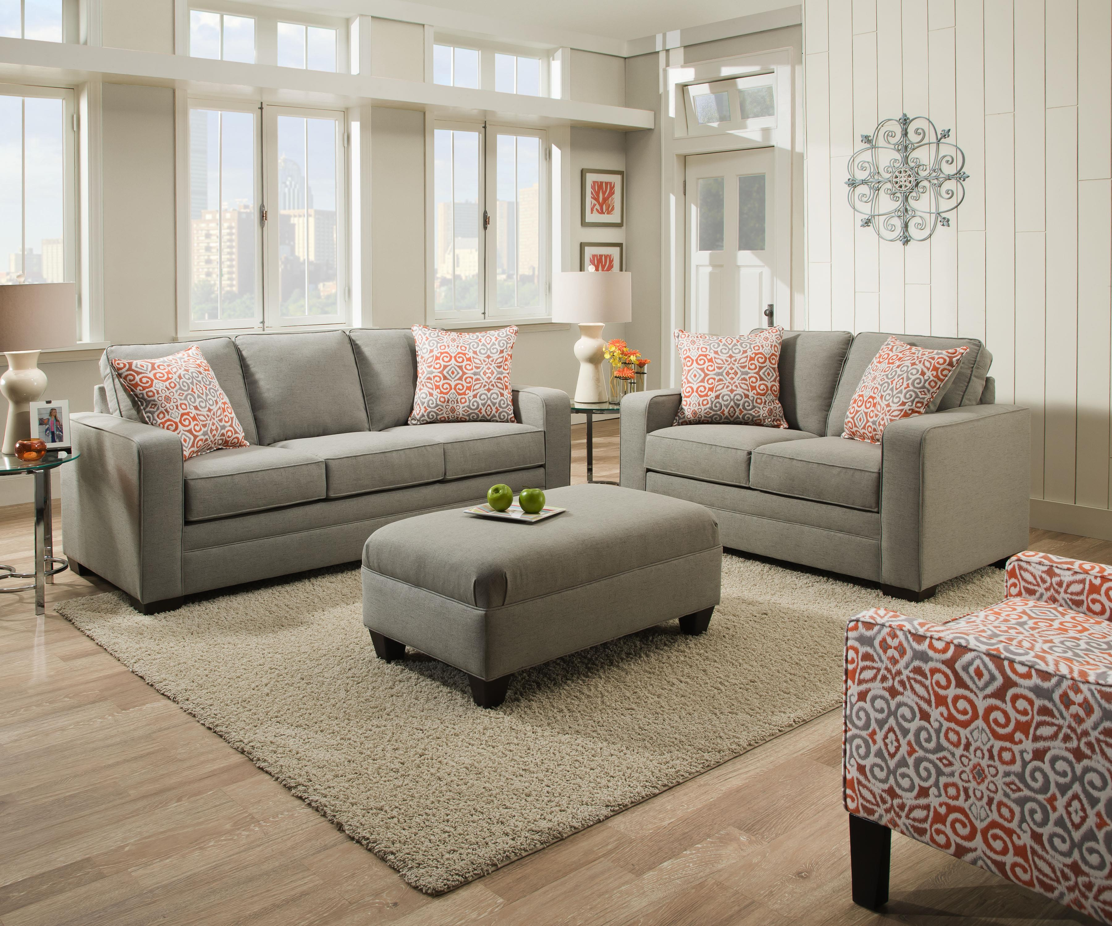 Simmons Upholstery 9064 United 9064sofa Transitional Sofa