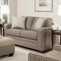 United Furniture Industries 9065 Transitional Loveseat - Item Number: 9065Loveseat-SeguinPewter