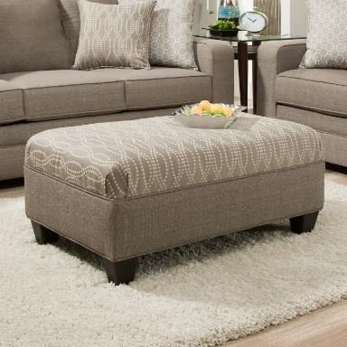 9065 Transitional Ottoman by United Furniture Industries at Dream Home Interiors