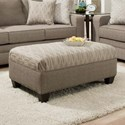 United Furniture Industries 9065 Transitional Ottoman - Item Number: 9065Ottoman-SeguinPewter