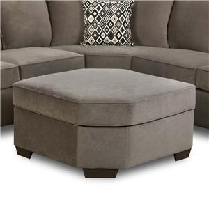 Simmons Upholstery 9070 Transitional Wedge Ottoman  sc 1 st  Dunk u0026 Bright Furniture : simmons 2 piece sectional - Sectionals, Sofas & Couches