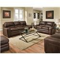 Simmons Upholstery 9085 Sofa and Loveseat - Item Number: 9085 Sable