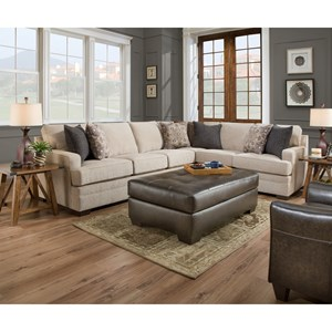 United Furniture Industries 9165BR 5 Seat Sectional
