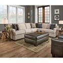 United Furniture Industries 9165BR 5 Seat Sectional - Item Number: 9165BRLAF+RAF