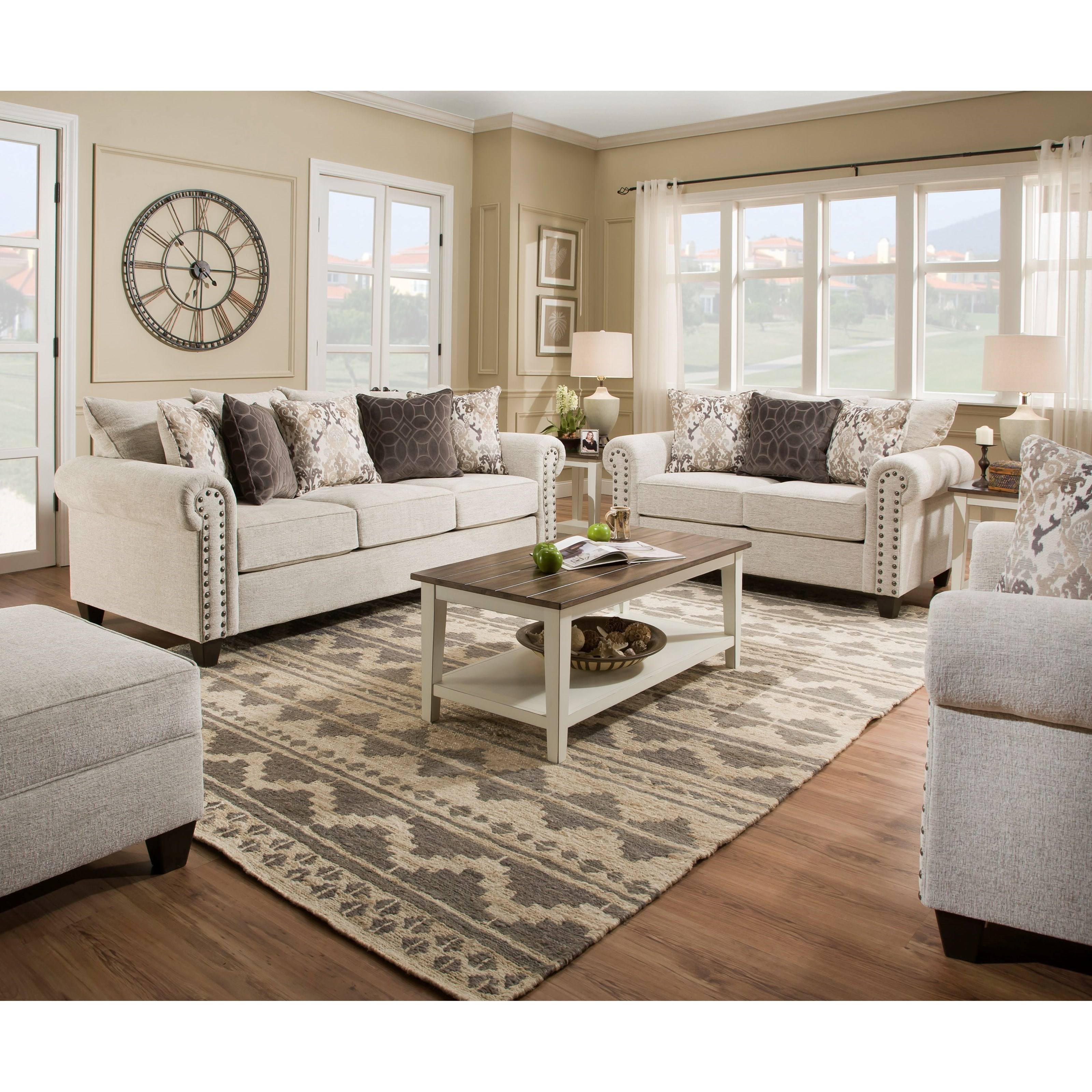 United Furniture Industries 1720 Sofa: United Furniture Industries 9175BR 9175BR-03 Transitional