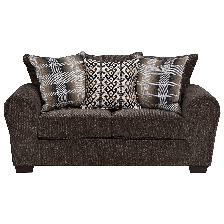 United Furniture Industries 9182BR Love Seat - Item Number: 9182BRLoveseat-Parks Tiger