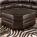 United Furniture Industries 9222 Wedge Ottoman - Item Number: 9222-D Wedge Ottoman Espresso