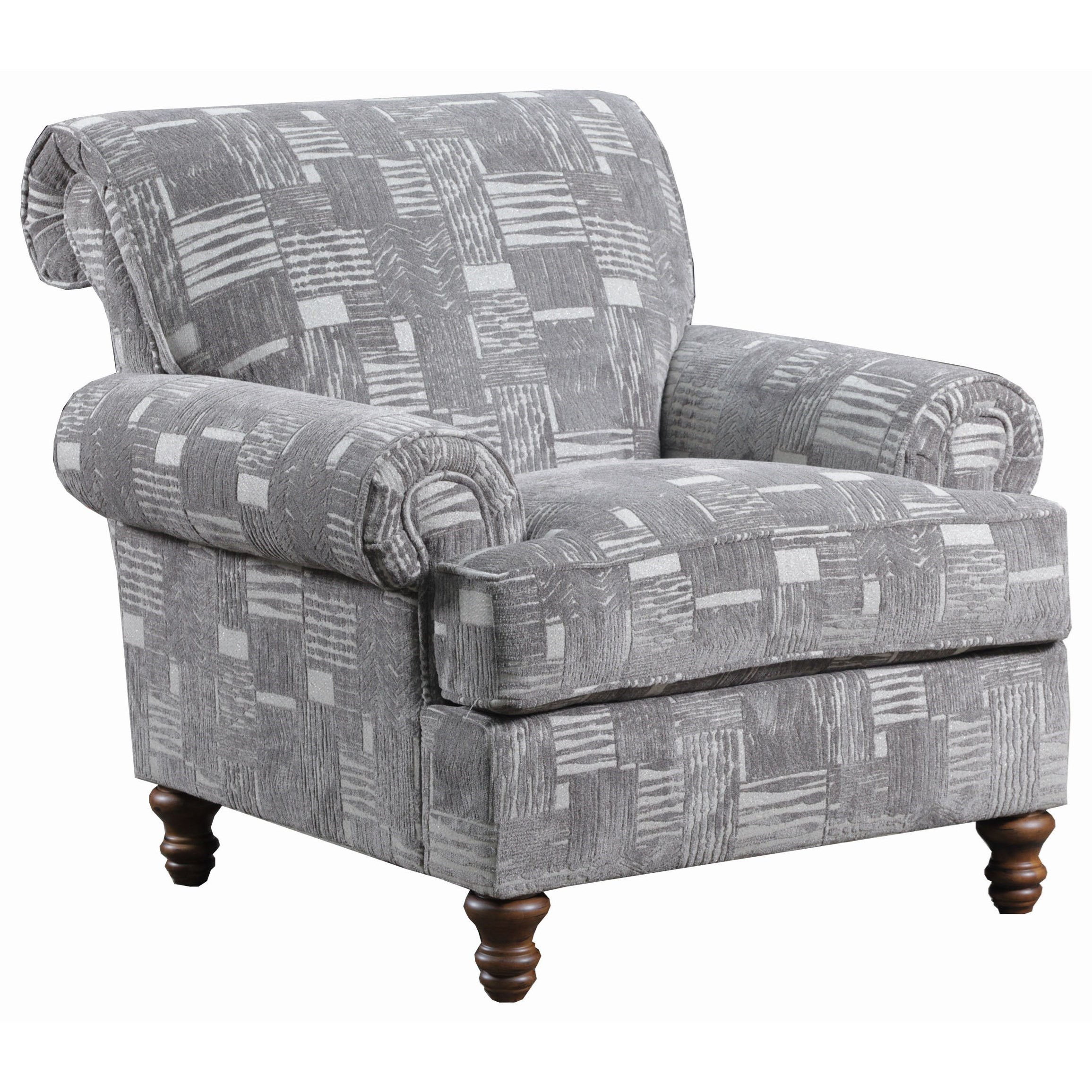 Simmons Upholstery 9255BR Accent Chair - Item Number: 90001 Accent Chair-Starlight Pewter