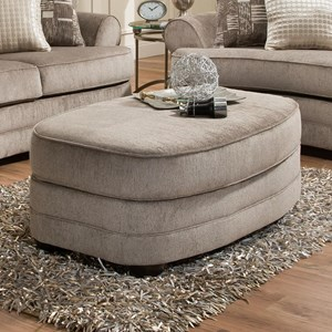 United Furniture Industries 9255BR Oval Ottoman