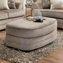 Simmons Upholstery 9255BR Oval Ottoman - Item Number: 9255BROttoman-KingsleyPewter