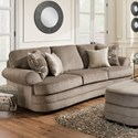 Simmons Upholstery 9255BR Transitional Sofa - Item Number: 9255BRSofa-KingsleyPewter