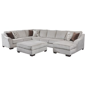 United Furniture Industries 9355BR Transitional Sectional Sofa