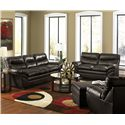 Simmons Upholstery 9515 Casual Contemporary Loveseat with Angled Pillow Arms
