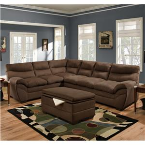 United Furniture Industries 9515 Casual Storage Ottoman Miskelly Furniture Ottomans