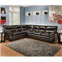 United Furniture Industries 9515 Casual Sectional Sofa - Item Number: 9515LAFBumpSofa+RAFSofa-Espresso