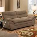 United Furniture Industries 9515 Loveseat - Item Number: 9515Loveseat-Lunachocolate