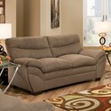 United Furniture Industries 9515 Loveseat - Item Number: 9515Loveseat-LunaShitake