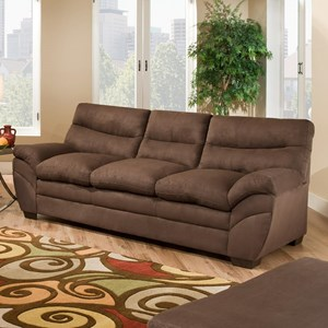 Simmons Upholstery 9515 Casual Sectional Sofa Dunk Bright