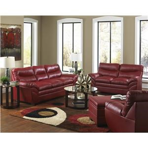 Simmons Upholstery 9515 Stationary Living Room Group