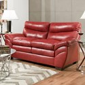 Blue Hill 9520 Loveseat - Item Number: 9520-02-Soho Cardinal