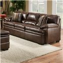 United Furniture Industries 9545 Casual Stationary Sofa - Item Number: 9545Sofa-EditorBrown