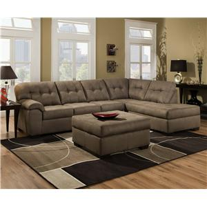 United Furniture Industries 9558 2 Piece Sectional Sofa with Chaise