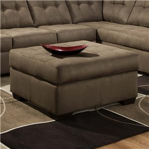 United Furniture Industries 9558 Transitional Tufted Cocktail Ottoman