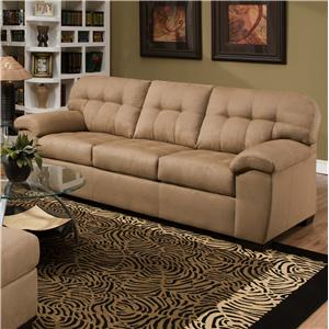 9558 Transitional Sofa with Tufted Back by United Furniture Industries