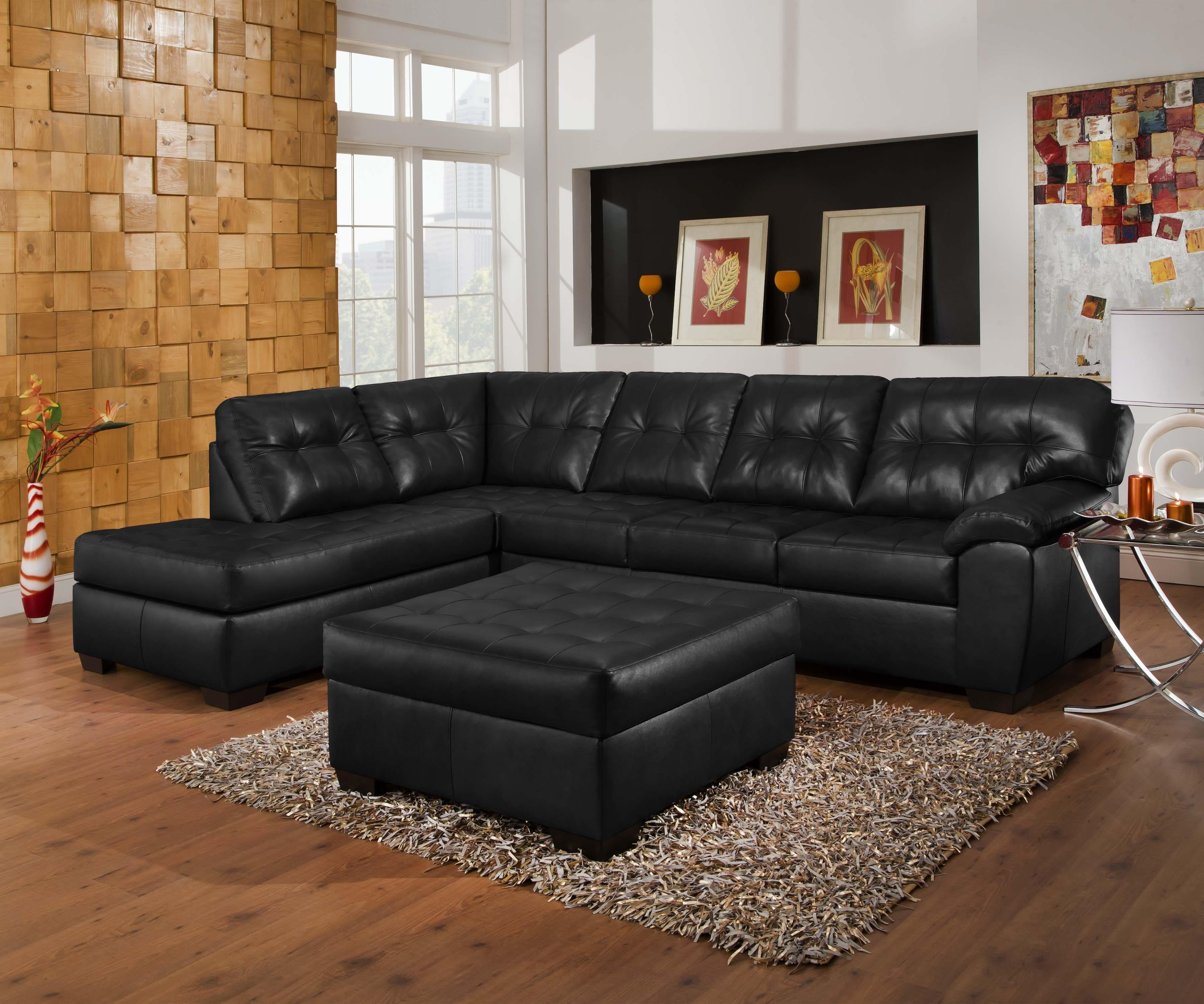 Simmons Upholstery 9568 Casual Sectional Sofa With Tufted