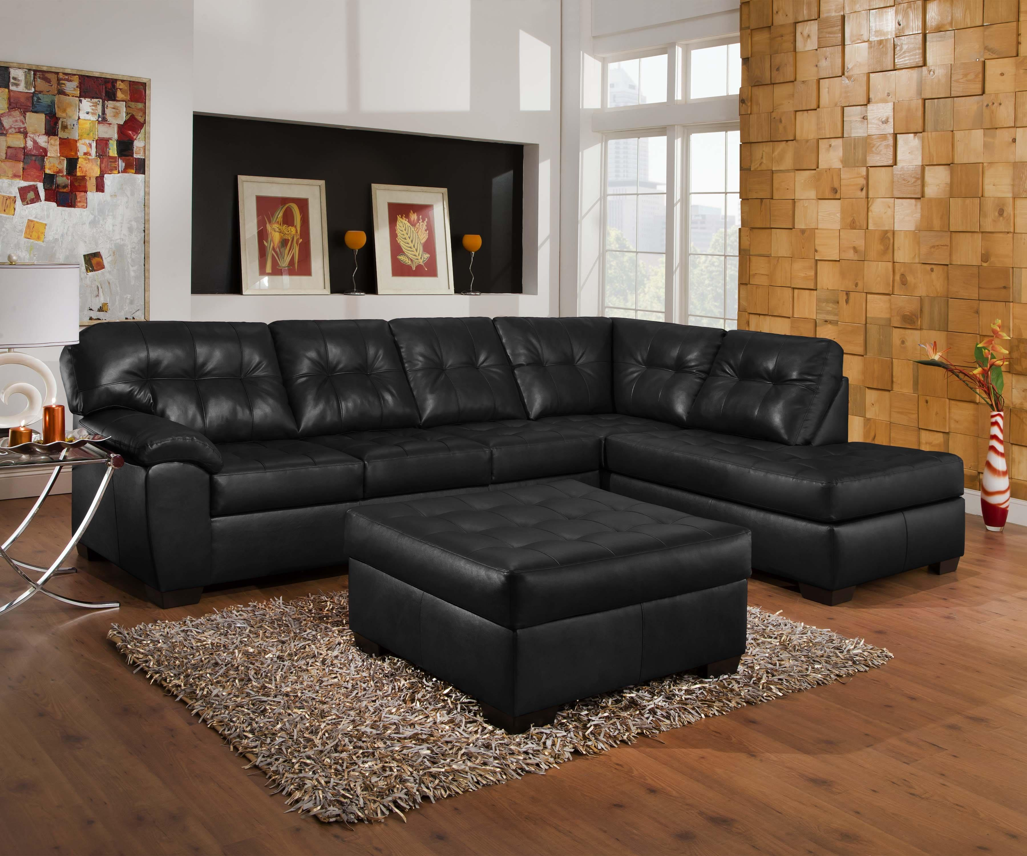 9568 Casual Sectional Sofa With Tufted Seat Back By United Furniture Industries At Miskelly Furniture
