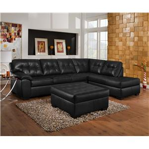 United Furniture Industries 9568 Sectional Sofa