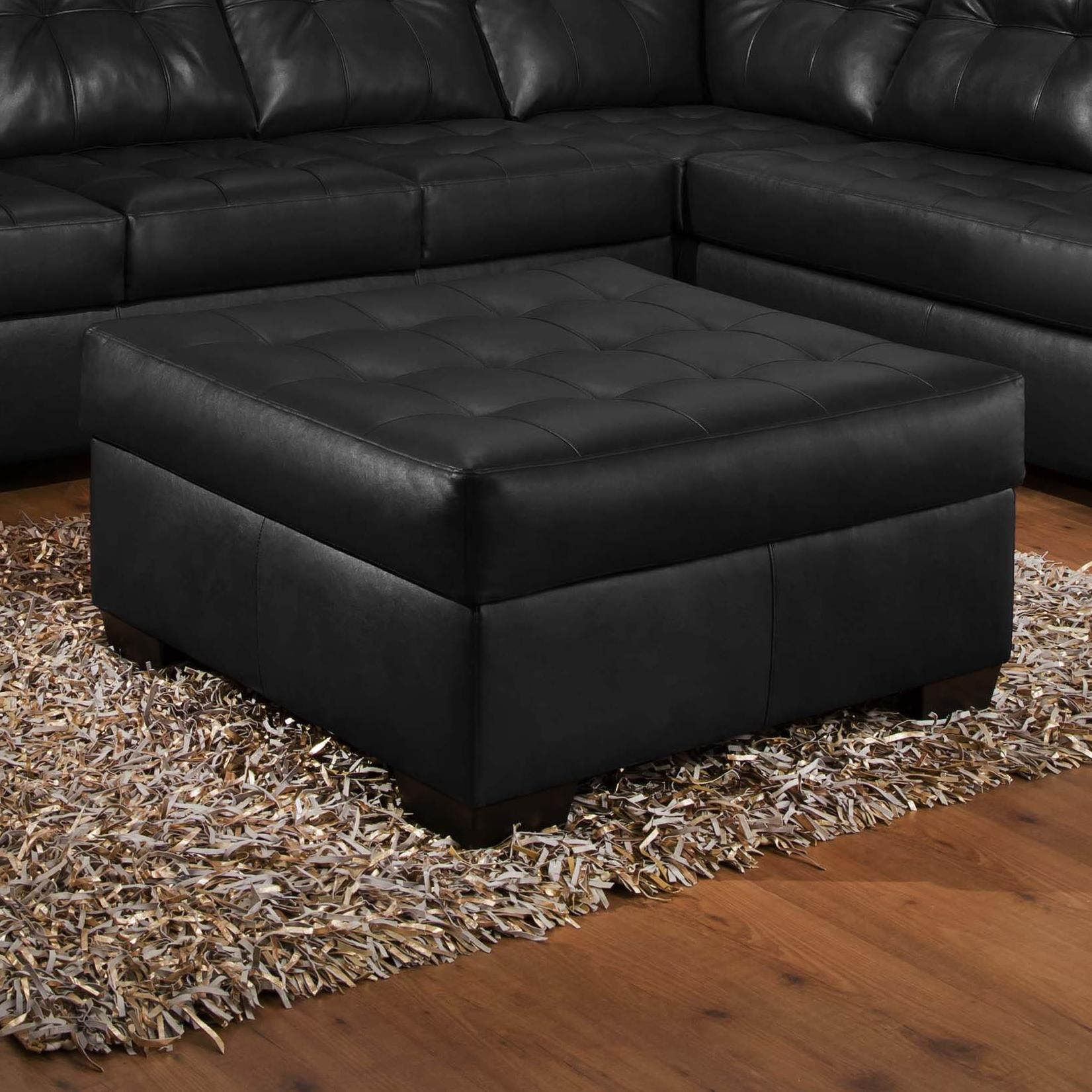 United Furniture Industries 9568 Tufted Cocktail Ottoman - Item Number: 9568Otto-Onyx