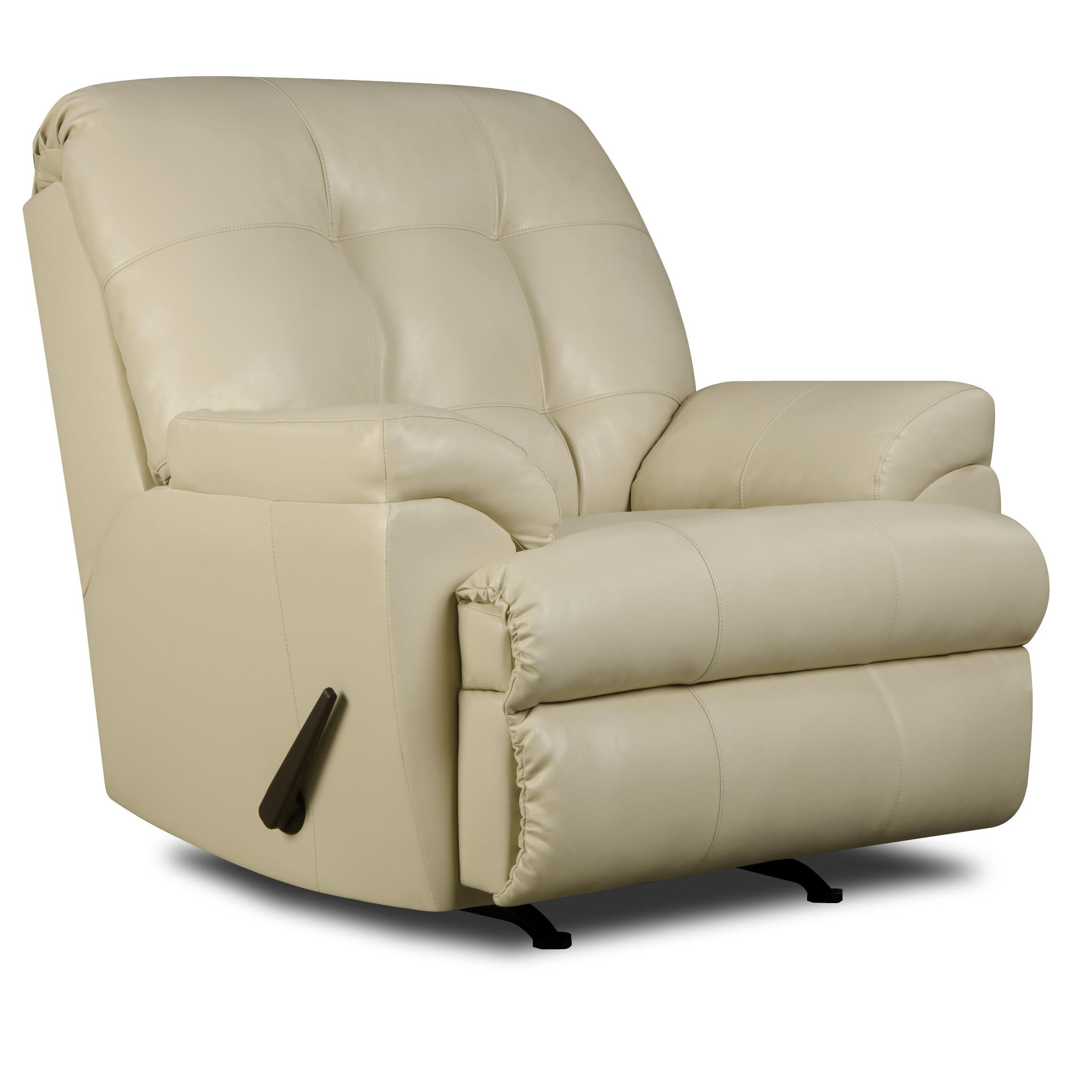 United Furniture Industries 9568 Rocker Recliner - Item Number: 9568Recliner-Pearl