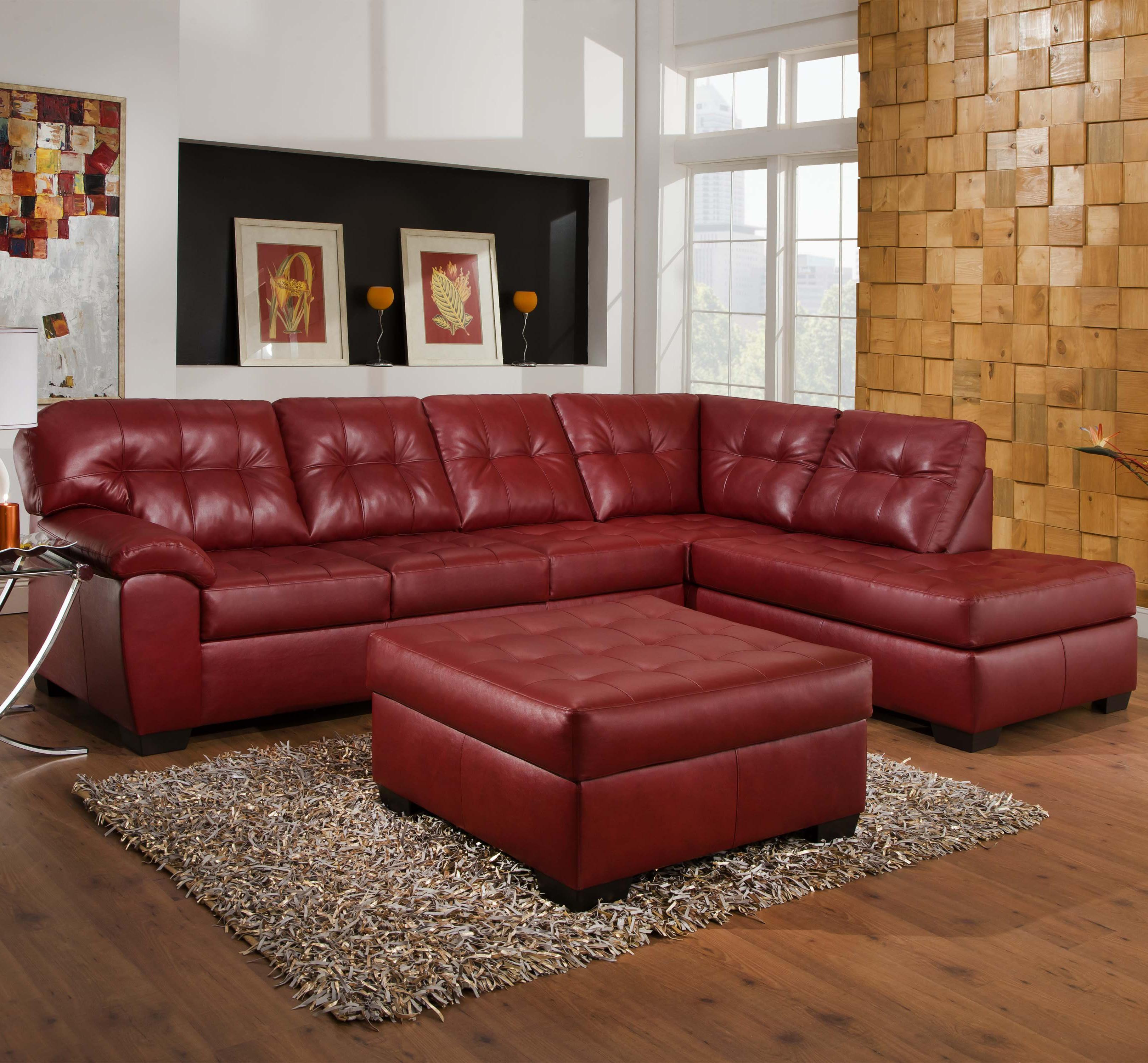 Perfect Simmons Upholstery 9569 2 Piece Sectional   Item Number: 9569C Sofa+Chaise