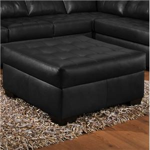 Simmons Upholstery 9569 Cocktail Ottoman