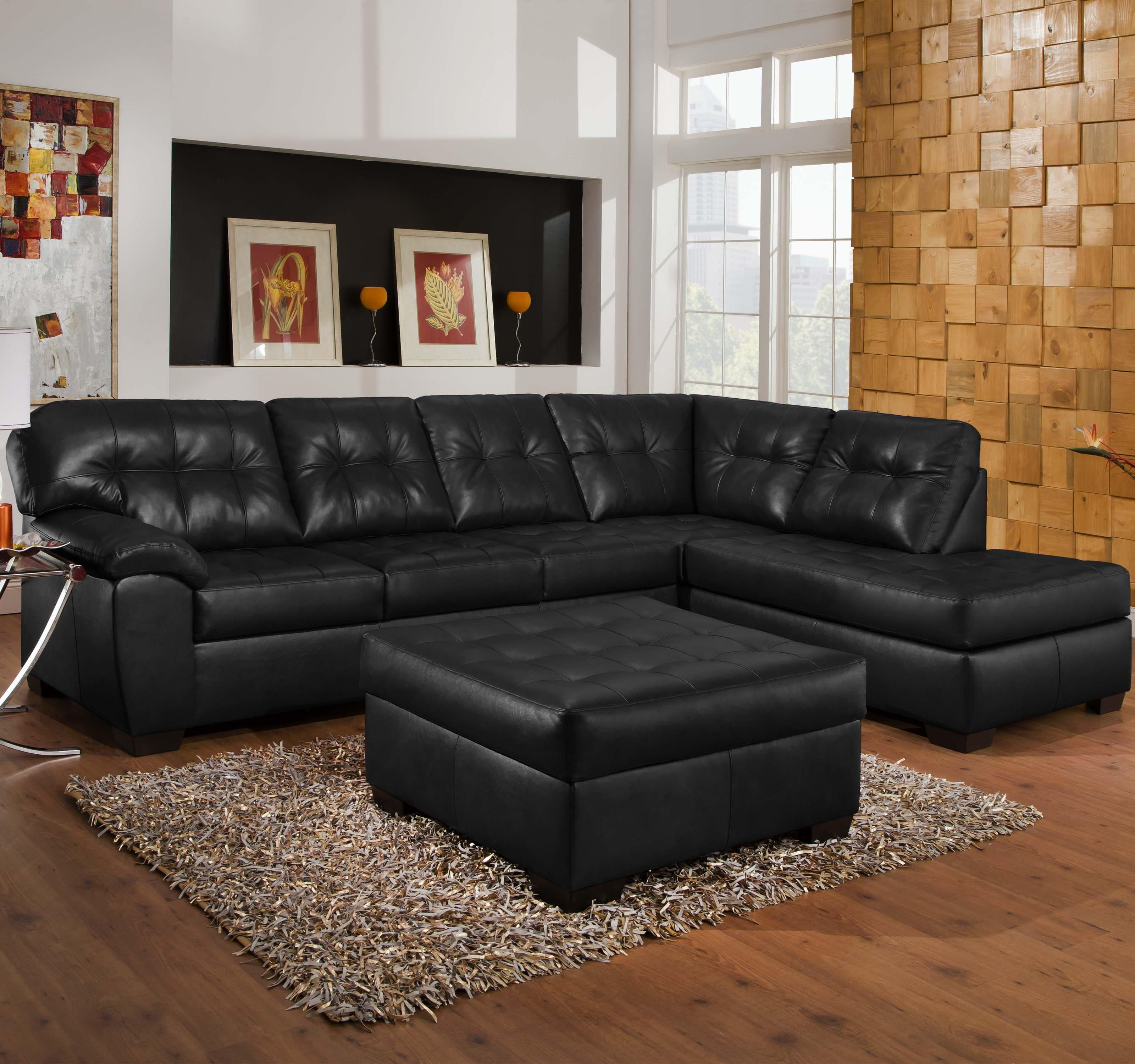 Simmons Upholstery 9569 2 Piece Sectional - Item Number: 9569O Sofa+Chaise