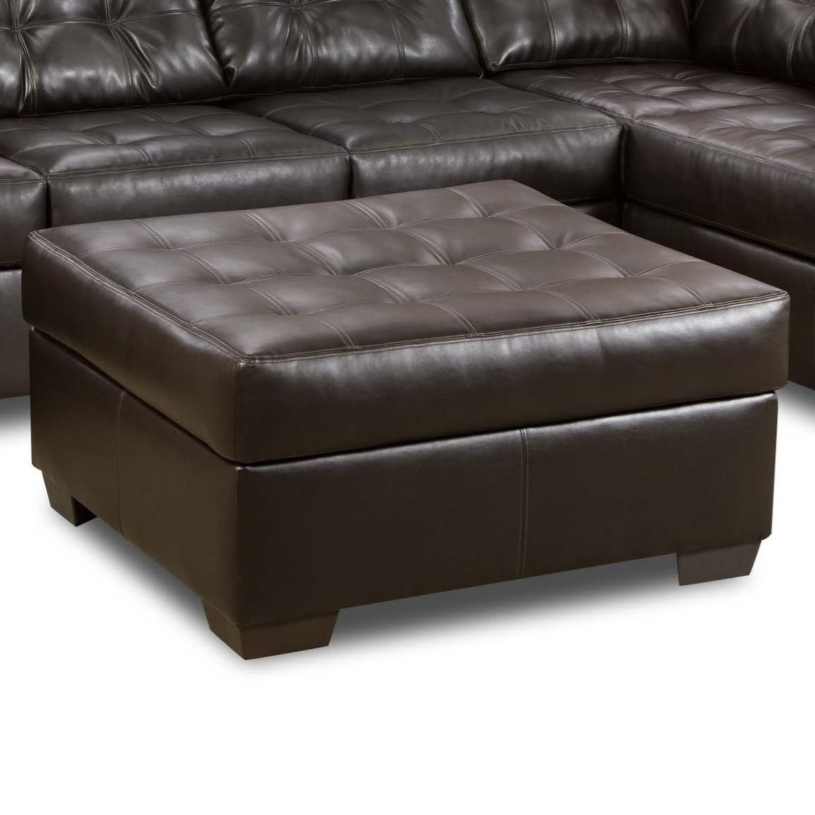 Simmons Upholstery 9590 Tufted Cocktail Ottoman - Item Number: 9590CocktailOttoman-Espresso